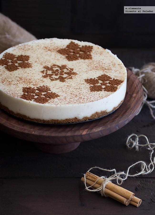 Tarta de arroz con leche. Receta sin horno - Directo Al Paladar