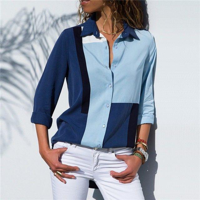 19aa7c39e72 ... Long Sleeve Blouse 2018 Autumn Fashion Shirts Casual Plus Size Tops  Blusas Feminina - BestsellingLover. Chiffon Shirt