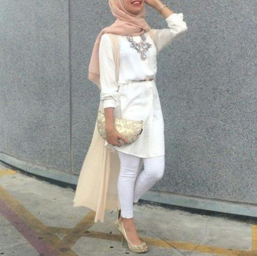 spring white shirt dress- How to wear shirt dress with hijab http://www.justtrendygirls.com/how-to-wear-shirt-dress-with-hijab/