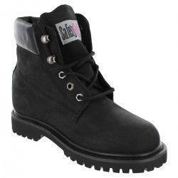 Safety Girl II Steel Toe Waterproof Women's Work Boots - Black