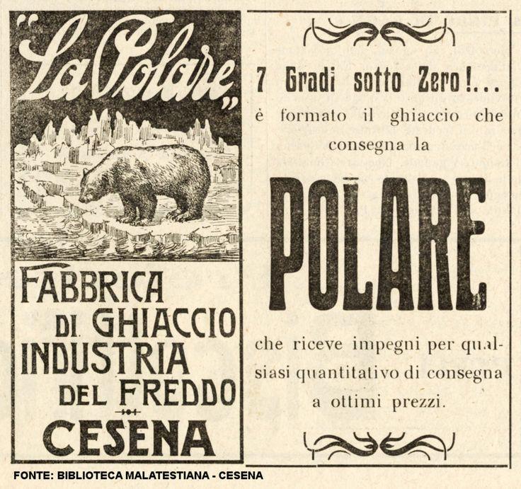 """Il ghiaccio di Cesena su """"La riviera romagnola"""" del 1922 #ice"""