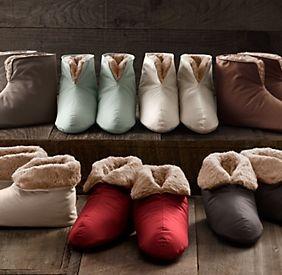 Plush Foot Duvets & Slippers | Restoration Hardware