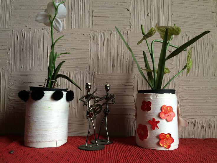 Upcycled Flower Vase