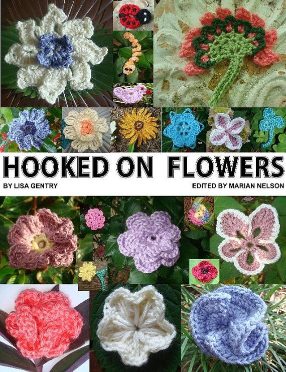 Hooked On Crochet : HOOKED ON FLOWERS Crochet Patterns ebook by HookNeedleDesigns, $4.99