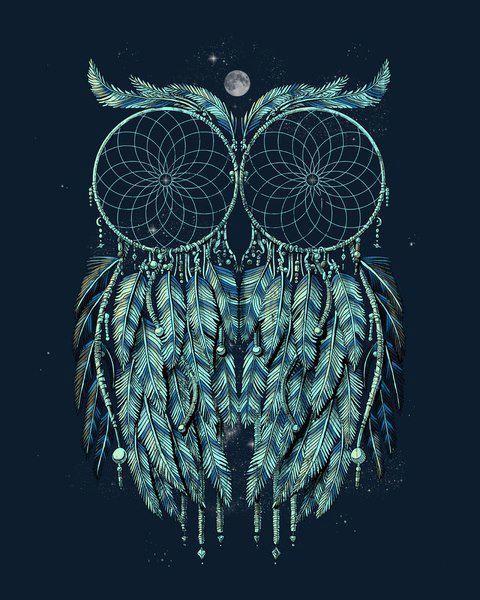 owl, dreamcatcher