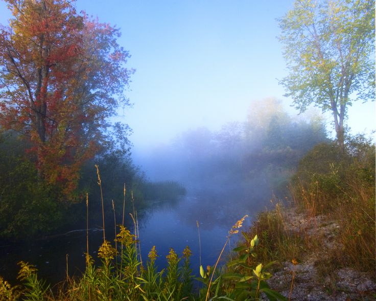 Morning mist- Talbot River, City of Kawartha Lakes.  This image won first place in a photo contest the city was holding.