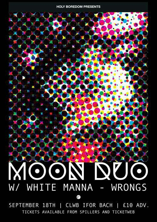 moon duo & white manna poster