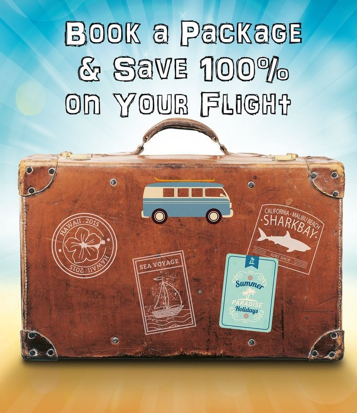"""Book a Package & Save 100% on Your Flight  Budget and last minute travel deals, discounts, and tips.     75% off Cruises  50% off Vacation Packages:  Enter your destination into the """"when to buy flights tool"""" to see when fare's will be the lowest.  Get up to 65% OFF on Las Vegas Hotels!  Save up 30% on Europe Tours  30 Websites for Travel Deals :  26-Apr-2016 to 31-Jan-2019  Save up to $570  When You Book a  Hotel and Flight"""