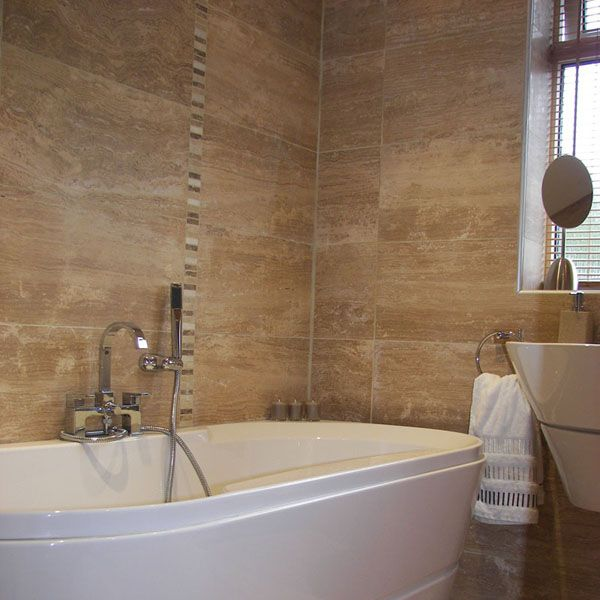 Tiled wall boards bathrooms