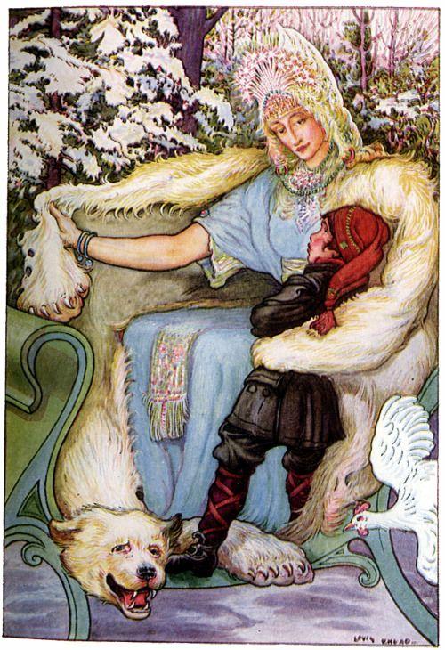 """Art by Louis Rhead (1914) - """"The Snow Queen."""""""
