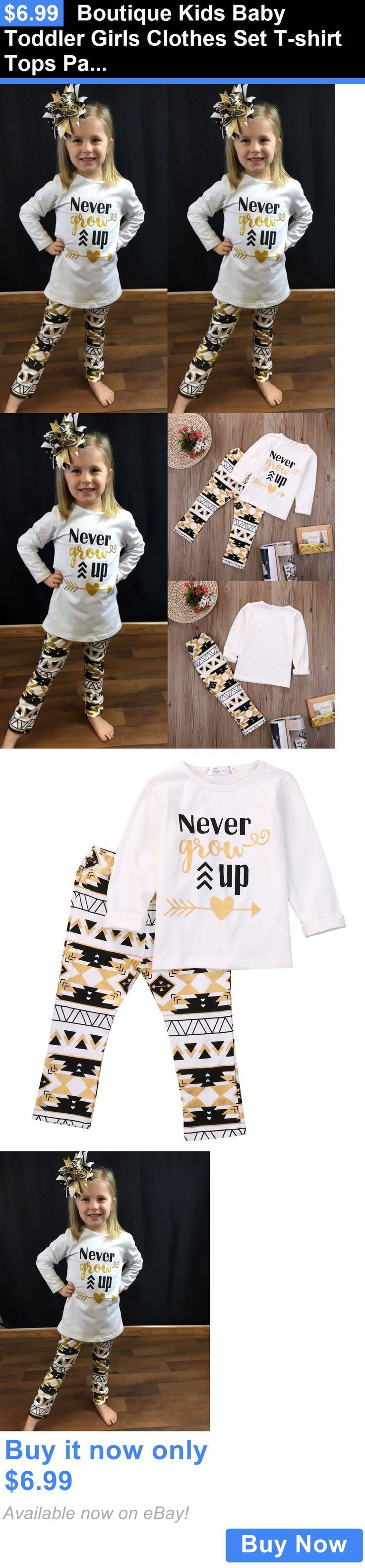 Baby Girls Clothing: Boutique Kids Baby Toddler Girls Clothes Set T-Shirt Tops Pants Leggings Outfits BUY IT NOW ONLY: $6.99
