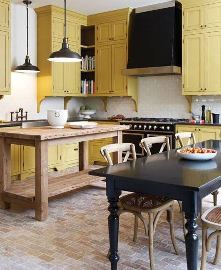 1000+ Ideas About Yellow Kitchen Cabinets On Pinterest