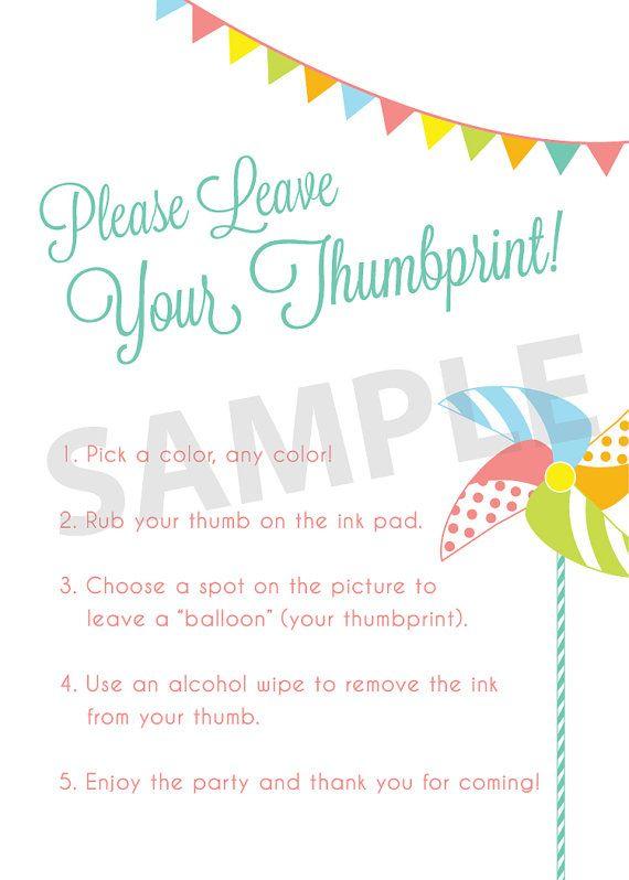 fingerprint tree wedding guest book instructions