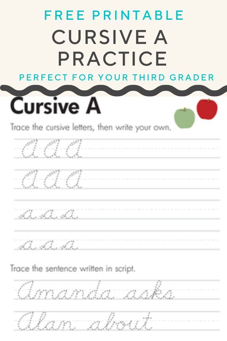 hight resolution of 3 4th Grade Cursive Handwriting Worksheets in 2020   Cursive writing  practice sheets