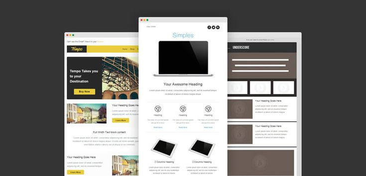 responsive email template free predesigned