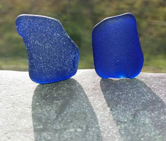 2 Large Pieces Of Cobalt Blue Scottish