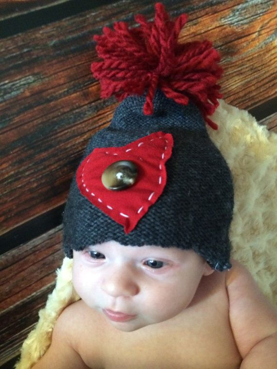 Newborn Photography Upcycle Heart Hat by RyburnProps on Etsy