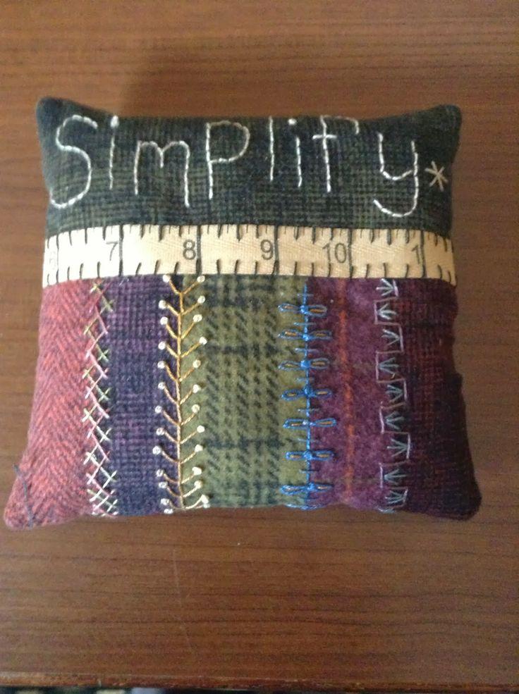 Simplify with stitch embellishment