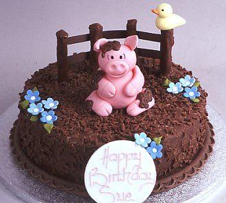 Pig in mud cake!