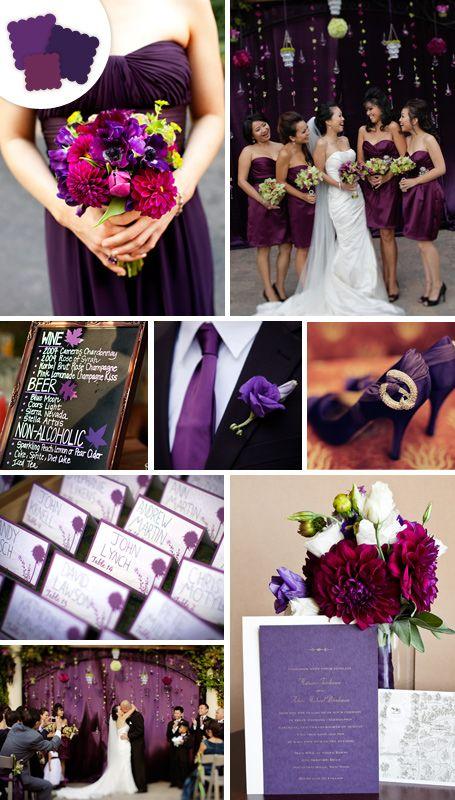 classic wedding colors -eggplant
