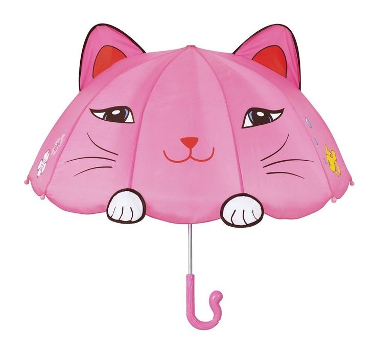 Girls Designer Pink Cat Umbrella,Licensed Kidorable Merchandise,Christmas Gifts