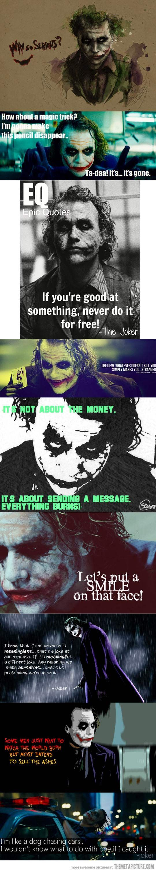 The Joker's best quotes…see madness as u kno is lik gravity aal it takes a little push ♥♥