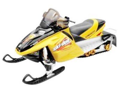 Yellow Ski Doo >> SKI DOO BOMBARDIER SNOWMOBILE Diecast Plastic 1:12 Scale Model Black and Yellow   Interesting ...