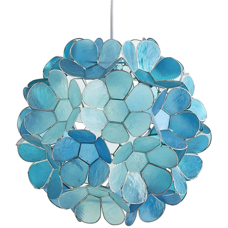 Petal Ball Aqua Teal Capiz Pendant Light Blue Pendant Light Plug In Pendant Light Plug In