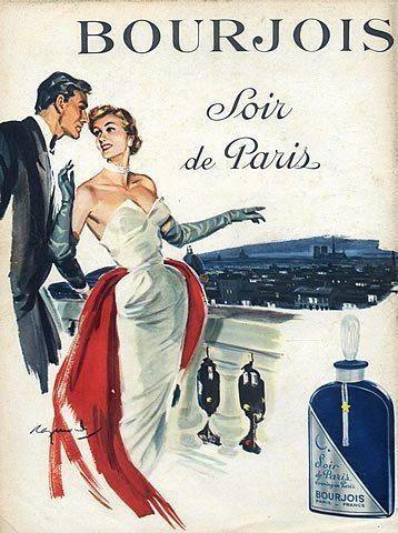 Bourjous perfume, 1953.