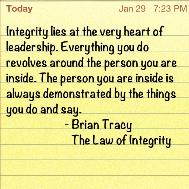 how to build integrity in your life