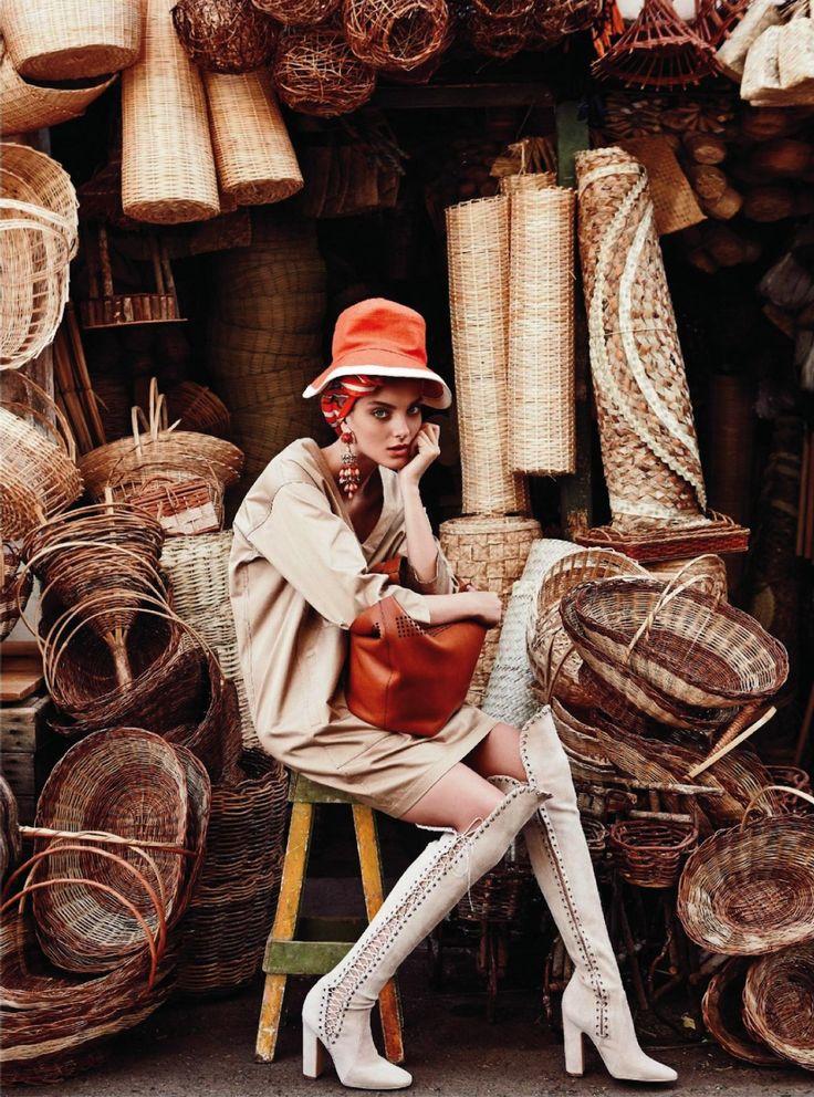opaqueglitter:    Denisa Dvorakova in 'In Living Colour' By Nicole Bentley For Marie Claire Australia March 2013