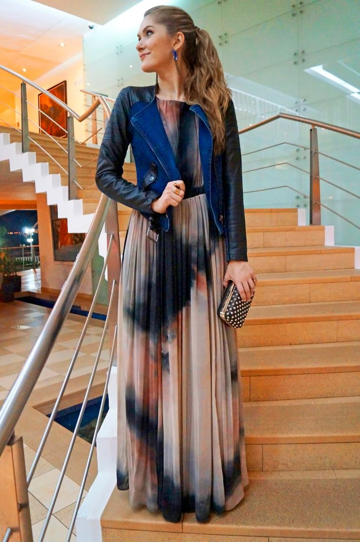 Long maxi dresses look good. Pair it up with a jacket, pointed-toe heels, and a designer clutch - 5 outfits to rock on a date!