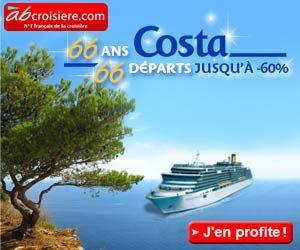 ABcroisière.com : 66 départs en promo à plus de -60% pour fêter les 66 ans des croisières Costa