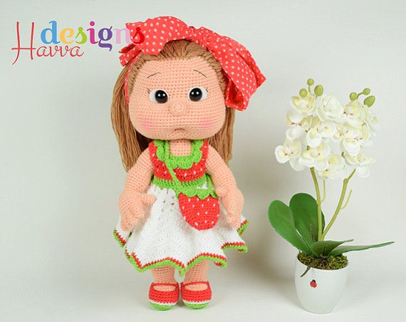 Amigurumi Strawberry Doll Pattern : Best 25+ Strawberry dress ideas on Pinterest Knitting ...