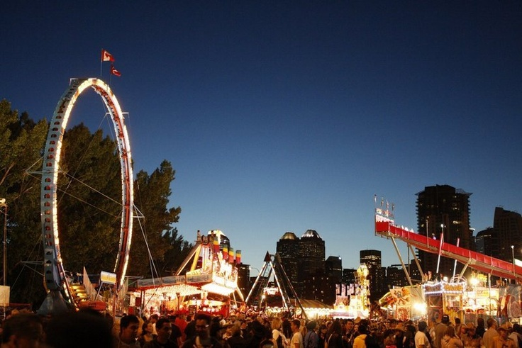 Calgary Stampede by night - My Photo Blog