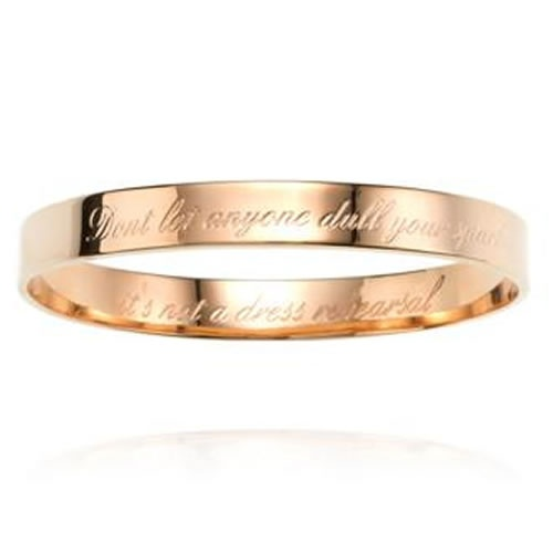Sparkle Bangle in Rose Gold by Samantha Wills