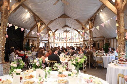 South Farm wedding - bunting!