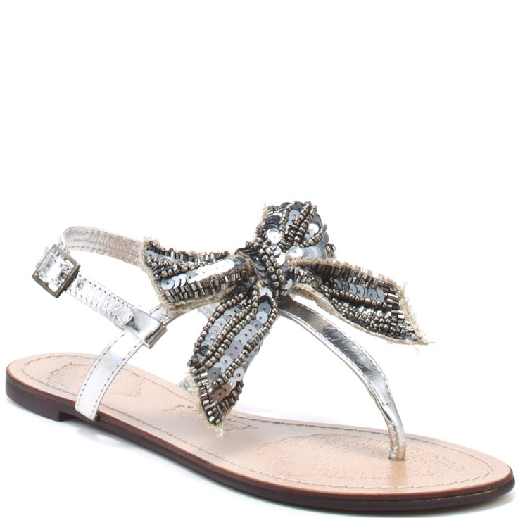 I'd even wear the flats if it had a bow: Bow Flats, Clothes Shoes Jewerly, Bow Sandals, Dream Closet, Naughty Monkey, Sparkly Bow, Bows Sandals, Wear