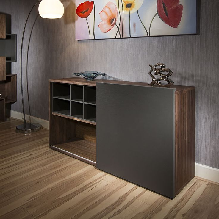 Walnut and Grey sideboard to complement matching items.