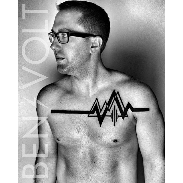 Its not what you say, its how you live your life. #Conceptual #abstract #geometric #heartbeat #ekg line to represent #life, encompassing an #opart #sound #waveform to represent #speech. Thanks for coming from Ohio to see me Aaron! It was a pleasure! #benvolt #blackwork #tattoo #tattoos #graphicdesign #linear #dynamic #pulse #speak #scholartattoo #sanfrancisco