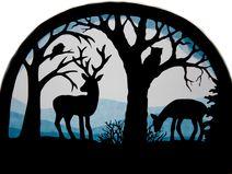 Fensterbild Tiere Wald Transparentbild