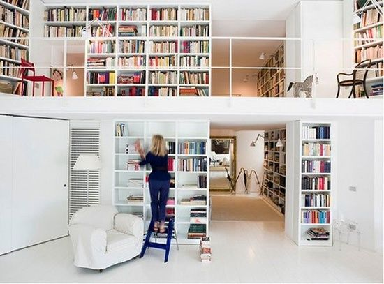 Library @ home Work #interior #inspiration #home #living #books #library
