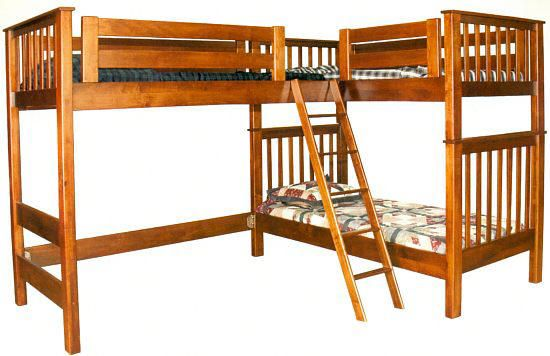 L-Shaped Mission Bunk Bed