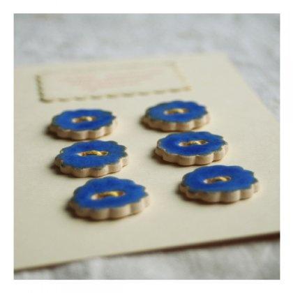 guziki ceramiczne // ceramic buttons // niebieskie (proj. Karolina Gletkier)
