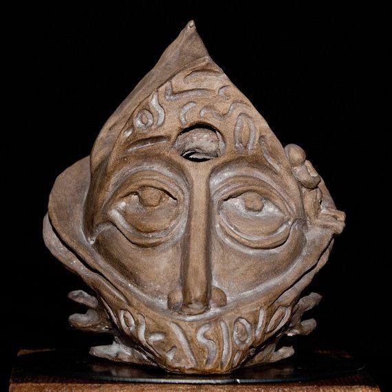 Artisan Handmade Unique Shamot Clay Ceramic Art by Artgalleryraka