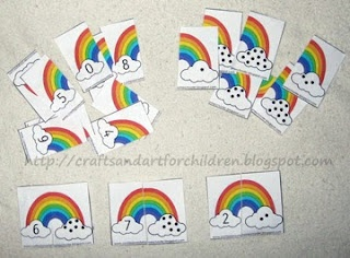 Rainbow Number Matching activity