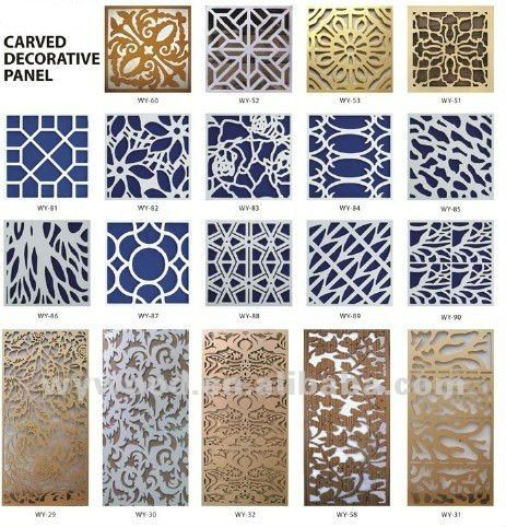 Indoor Decorative Fence Panel View Grille Panels Carving