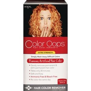 Oops Color Remover Oops Hair Color Remover Color Oops Hair Color Remover