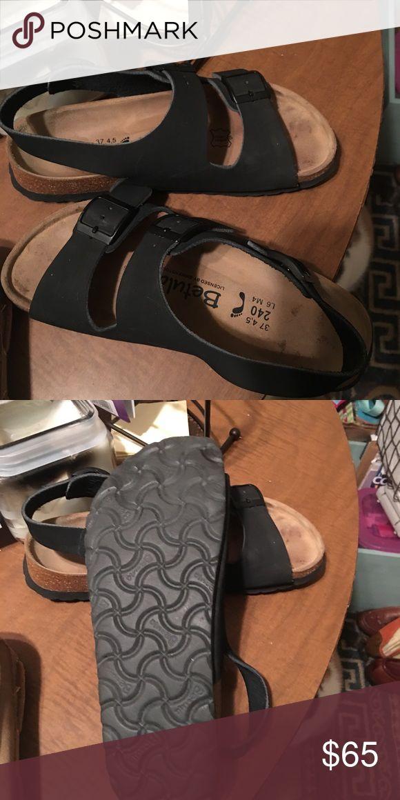 Birkenstocks 37 Black Birkenstocks Birkenstock Shoes Sandals