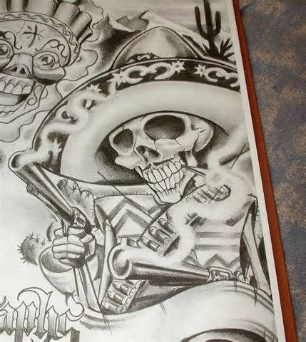Boog Tattoo Flash Art Book Chicano Street Gangster Pictures